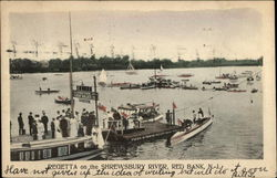 Regetta on the Shrewsbury River Postcard