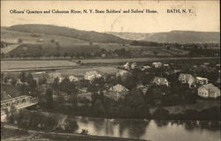 Officers' Quarters and Cohocton River, N.Y. State Soldiers' and Sailors' Home
