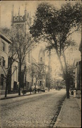 View of Third St. with St. Paul's P.L. Church, City Hall & Third St. Baptist Church