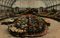 Interior of Conservatory - Garfield Park Postcard