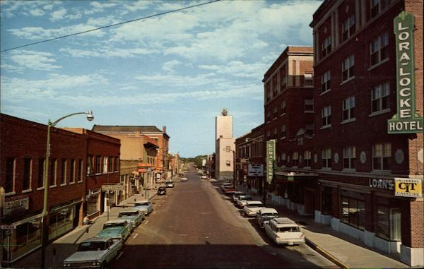 Gunsmoke Business Section Street In Downtown Dodge City Ks