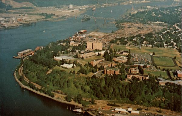 Aerial View of University of Portland Oregon