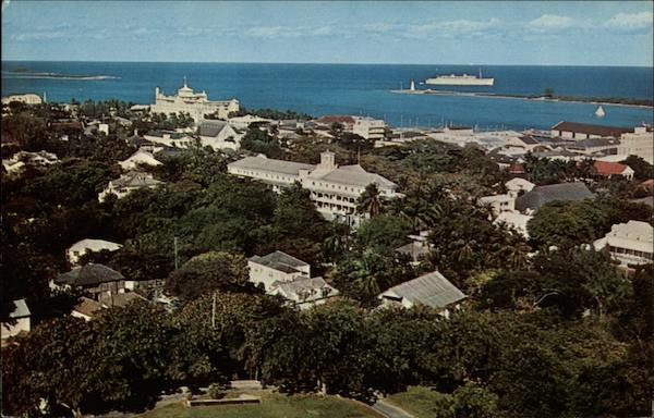View of Town from Fort Fincastle Nassau Bahamas Caribbean Islands