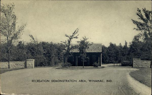 Recreation Demonstration Area, Entrance way and Gate House Winamac Indiana