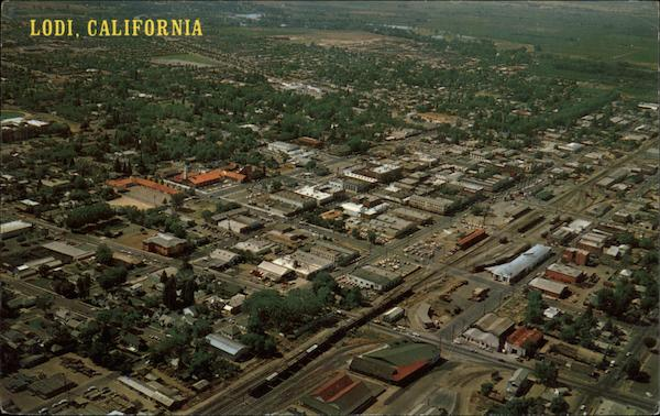 Aerial View of the City Lodi California