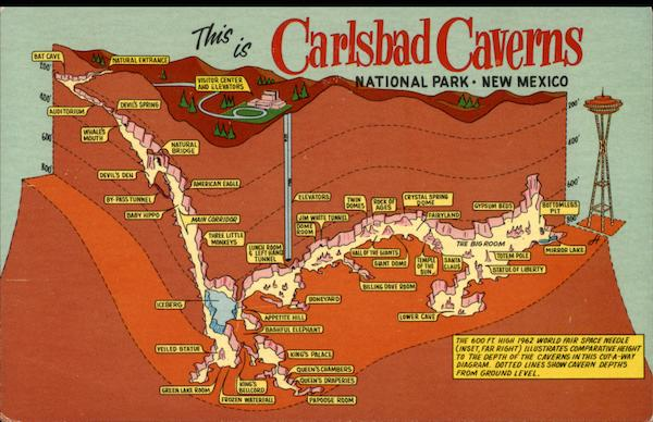 Depth Map Of Carlsbad Caverns National Park