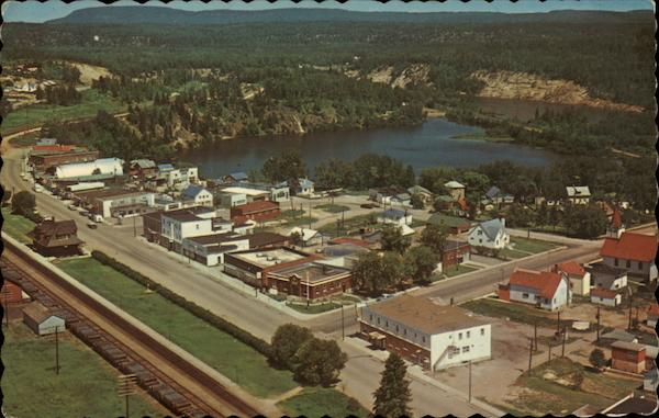 Bird's Eye View of Town Nipigon Canada Ontario