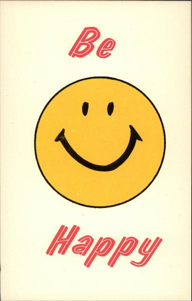 Be Happy - Smiley Face Comic, Funny