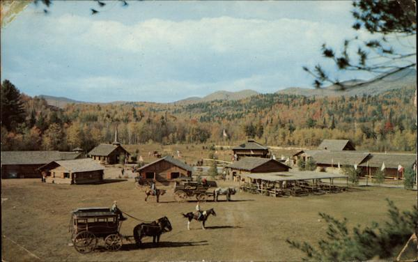 overall view of pioneer settlement  frontier town schroon lake  ny