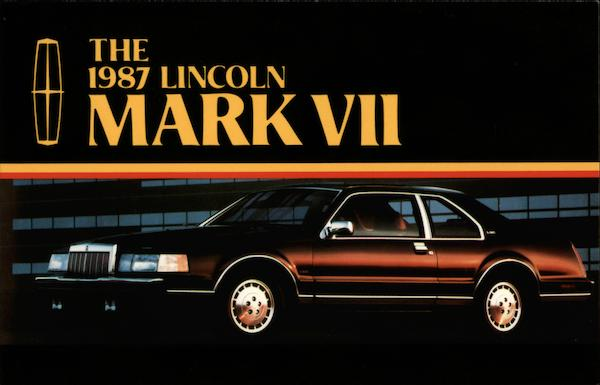 The 1987 Lincoln Mark VII Cars