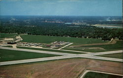 Airview, Airport and City Postcard