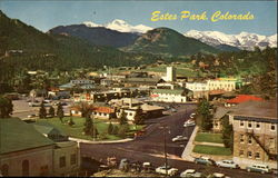 View of the mountains around Estes Park