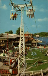 Indiana Beach Shy Ride Postcard