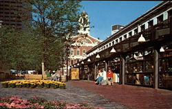 Faneuil Hall & the newly renovated Quincy Market Buildings