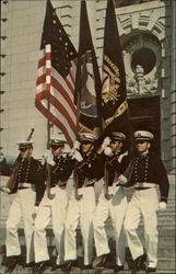Color Guard, Front of Bancroft Hall. United States Naval Academy