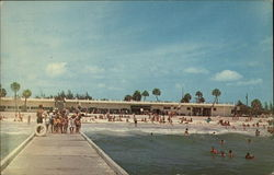 The Manatee County Public Beach and Pavilion Postcard