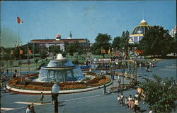 Princess Margaret Fountain at the Canadian National Exhibition Postcard