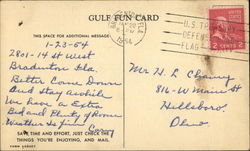 Gulf Oil Fun Card