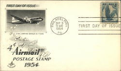 A Mail Carrying Douglas DC 7 Plane - First Day of Issue