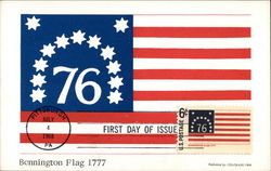 76 First Day of Issue - Bennington Flag 1777