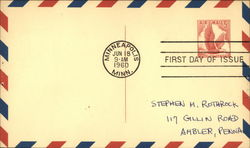 First Day of Issue - 5c Air Mail 1960