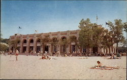 Pavilion and bath house, Indiana Dunes State Park Postcard