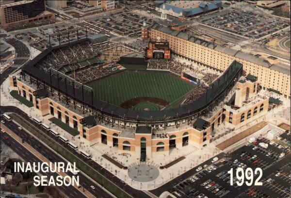 Oriole Park At Camden Yards Inaugural Season 1992