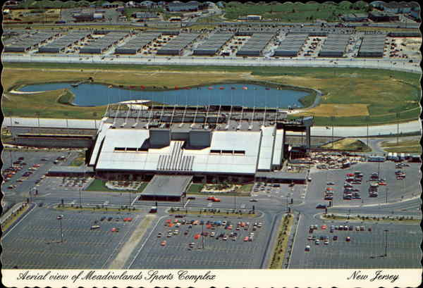 Aerial view of Meadowlands Sports Complex East Rutherford New Jersey