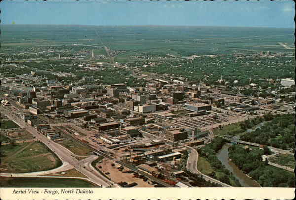 Aerial View of Fargo North Dakota