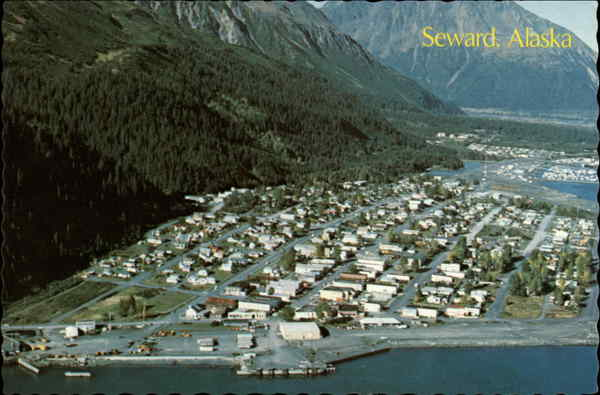 Aerial View of Town Seward Alaska