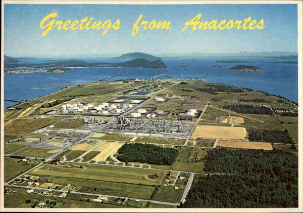 Aerial View Of Industrial District Anacortes Wa