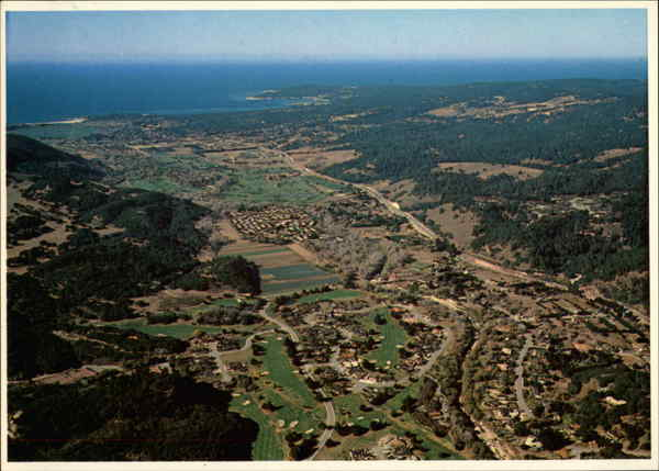 Aerial View of Carmel Valley California