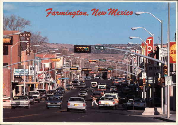 View of Downtown Farmington New Mexico