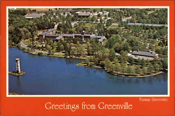 Aerial view, Furman University Greenville South Carolina