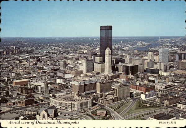 Aerial View of Downtown Minneapolis Minnesota