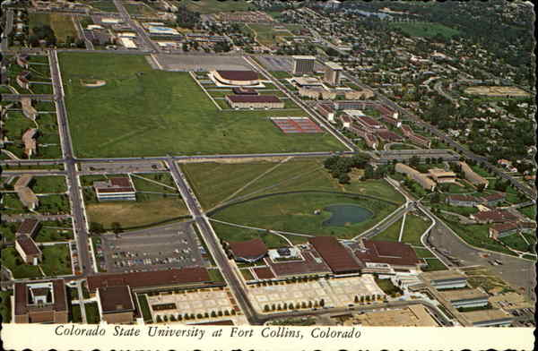 Aerial View of the State University Fort Collins Colorado