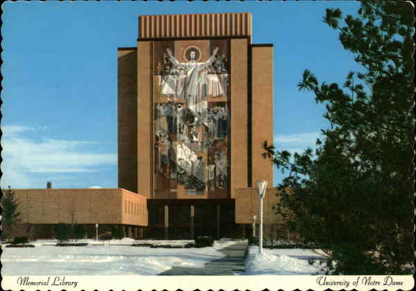Memorial Library, University of Notre Dame South Bend Indiana