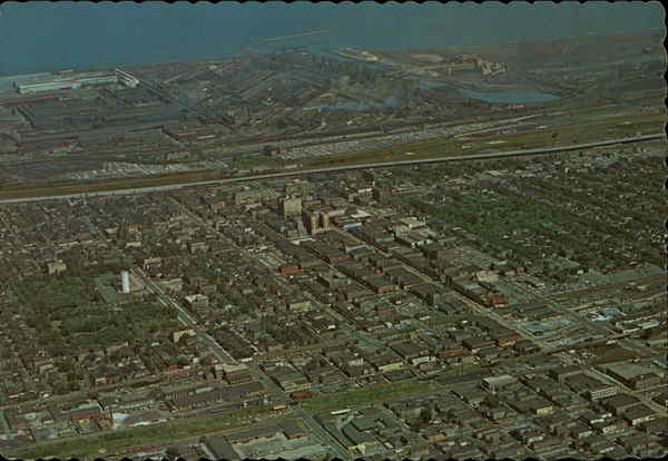Aerial View of Gary Indiana