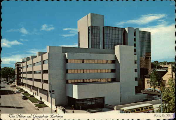 The Hilton And Guggenheim Buildings Mayo Clinic Rochester Mn
