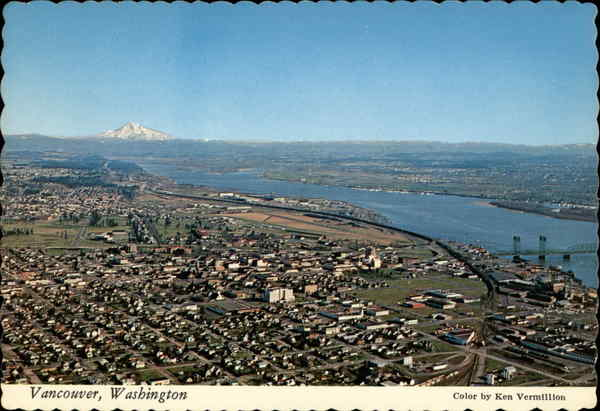 Aerial View of City Vancouver Washington