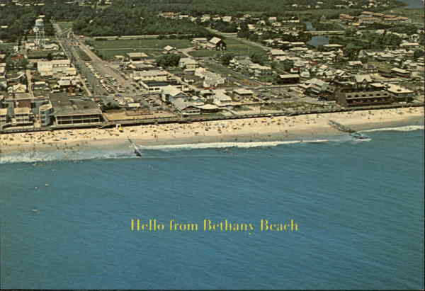 Aerial View of Beach Bethany Beach Delaware