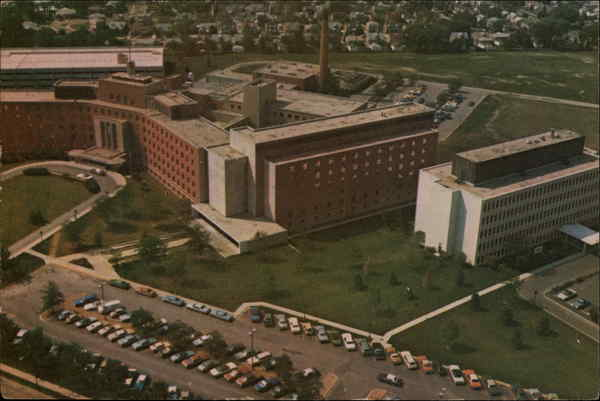 Aerial View of Resurrection Hospital Chicago Illinois