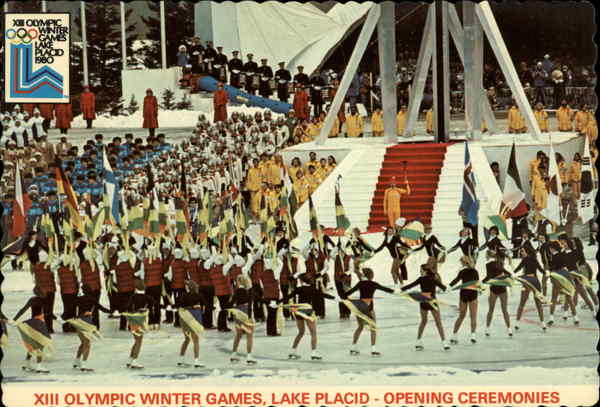 XIII Olympic Winter Games -opening Ceremonies Lake Placid New York