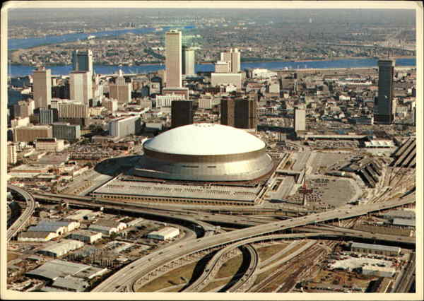 Aerial View Of Downtown New Orleans La
