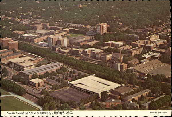 Aerial View, North Carolina State University Raleigh