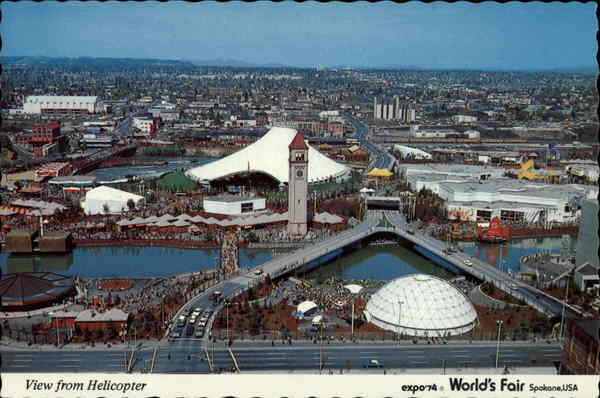 view from helicopter expo 74 worlds fair spokane wa