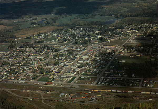 Aerial View Smithers Canada British Columbia