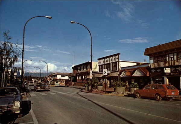 Looking down the main street Smithers Canada British Columbia