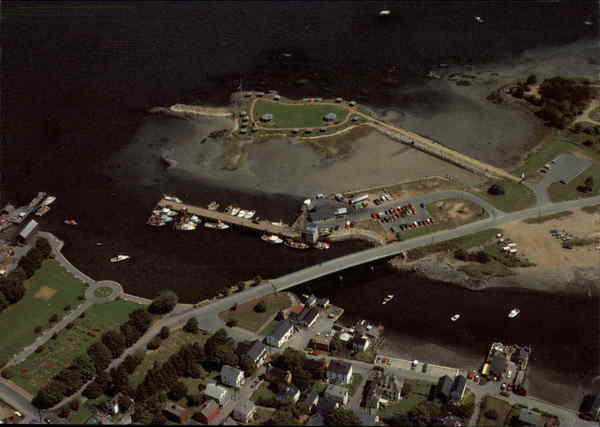 Aerial view of the New Hampshire State Fishing Pier Portsmouth