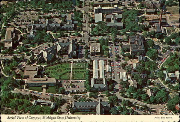 Michigan State Campus >> Aerial View Of Campus Michigan State University East